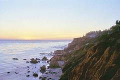 El Matador Beach (alanabramsphotography) Tags: ocean california slr film beach canon pacific kodak olympus pch coastline 100 westcoast canoscan om1 pacificcoast elmatador ektar 8800f