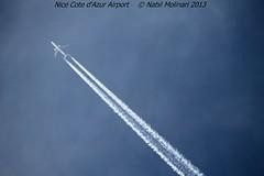 Contrails @ LFMN 18-12-2013 (Nabil Molinari Photography) Tags: nice cote contrails dazur lfmn