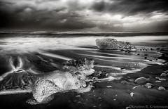 Ice (Kristinn R.) Tags: sea ice sunrise blacksand iceland nikon jkulsrln d3x nikonphotography breiamerkursandur kristinnr