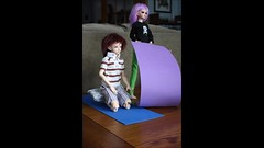BJD Yoga Movie (Coda'sPlace) Tags: yoga bjd fairyland dollzone dollleaves 5stardoll