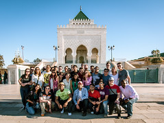 Mausoleum of Mohammed V - Tepper Group Picture (Graham Gibson) Tags: trek olympus mosque panasonic v morocco mausoleum mohammed ii hassan rabat tepper gf1 918mm