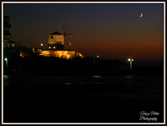 Paros by night (Terezaki ) Tags: light sea summer sky moon windmill yellow night island photography photo searchthebest aegean hellas greece paros cyclades pictureperfect 2014 naturesfinest  100faves 50faves 100favs anawesomeshot flickrdiamond theperfectphotographer