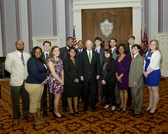 04-03-2014 Legislative Interns with Governor Bentley
