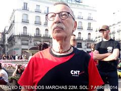 Apoyo detenidos 22M (Fotos de Camisetas de SANTI OCHOA) Tags: cnt amigo