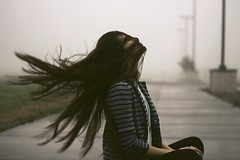 Foggy Mornings (xbutterfly28x) Tags: morning portrait sky motion fall girl beautiful rain fog hair person photography smog model mood texas smoke foggy windy rainy flip portraiture sit conceptual snomachine instagram uploaded:by=flickrmobile flickriosapp:filter=nofilter