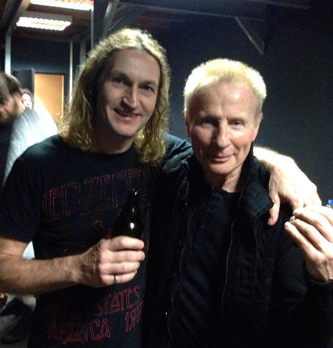 "Tony with Phil Mogg of UFO • <a style=""font-size:0.8em;"" href=""http://www.flickr.com/photos/41636591@N07/13759471165/"" target=""_blank"">View on Flickr</a>"