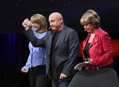 Gabby Giffords and Mark Kelly — Sympatico! (jurvetson) Tags: ted gabby mark pat kelly mitchell congresswoman giffords ted2014