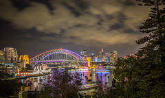 509A5799 - Sydney Harbour Bridge - Vivid 2014 (Gil Feb 11) Tags: australia newsouthwales lavenderbay
