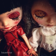 Hermanitas #cocomicchi #SqueakyMonkey #MimeDollz #blythedoll #blythe (bauer blue) Tags: blythe blythedoll squeakymonkey cocomicchi mimedollz