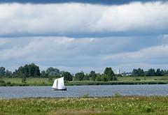 Sailing boat (andrey.senov) Tags: water clouds river boat ship fuji russia vessel fujifilm province volga   kostroma     xa1 35faves     fujifilmxa1
