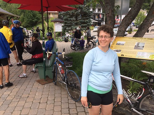 We were pleasantly surprised to see so many cyclists in Mont-Tremblant, especially senior citizens and families with children