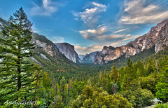 Tunnel View Yosemite (andy.gittos) Tags: california park trees sky clouds view tunnel national valley yosemite halfdome elcapitan hdr tunnelview