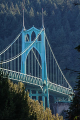 Sunset bridge (Oleg S .) Tags: oregon portland travel usa architecture bridge sunset