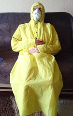 multilayered in pvc rainwear (coatrPL) Tags: raincoat rainwear rainsuit raincape coat pvc płaszcz przeciwdeszczowe płaszczyk plastic hooded