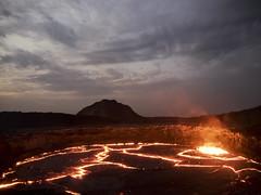 Sunrise, Erta Ale, Ethiopia ([The World Through My Eyes]) Tags: eruption volcano ethiopia erta ale ertaale danakil afar lava lavalake etiópia mekele sunrise africa em1 omd أثيوبيا vulcão erupção tigray dalol