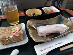 Japan Airlines ITM>HND Inflightmeal (PYONKO) Tags: japan f jl 777 firstclass jal domesticflight itmhnd