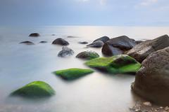 Dawn calm (saki_axat) Tags: longexposure seascape nature water dawn rocks calm coastal bermeo biotopo urdaibai amancer arribolas canonikos