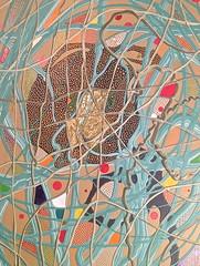 Eye See You (rhythmart) Tags: abstract color art colorful paint doug smith latex swirls dots rhythm dougsmith reclaimed reused rhythmart abstractartbydrummerdougsmith
