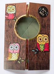 Peek-a-boo owl card (crafty Kath) Tags: handmade peekaboo card owl surprise
