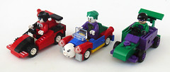 Joker Racers (Oky - Space Ranger) Tags: car dc lego clown prince super harley crime batman joker heroes racers universe riddler quin