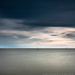Still There (MOG'S) Tags: longexposure sunset seascape jeram lonelytree selangor