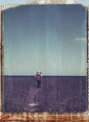 . (abdukted1456) Tags: summer sky beach me grass polaroid conversion path maine filter scarborough 100 manual warming seagrass 85b expiredfilm landcamera 669 packfilm wollensak instantfilm pinepoint type669 automatic100 peelapart 127mm raptar