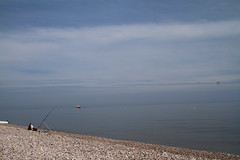 Seaside (Adrian Midgley) Tags: blue beach fisherman azure stuart line booze even cruiser atsea possibly budleigh salterton atease