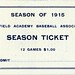 Season ticket 1915