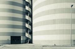 HELIX (jonasginter) Tags: urban bw lines stairs silo treppe architektur monochrom kraftwerk schwarzweiss industrie spirale streifen kreis vast swb symmetrie linien wendeltreppe geringelt