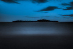 Blankets of night (Appe Plan) Tags: ocean sea sky lake seascape abstract motion nature water night clouds dark islands still nikon long exposure quiet view darkness sweden karlstad filter le nd 28300mm vnern movment drifting drr appe d700