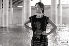 Under I-35 (HumpPhoto.com) Tags: city bridge portrait urban woman black water girl beautiful beauty standing self underpass photography san texas dress boots little under young tags egyptian isabella antonio i35 on humphries ryanhumphries ryanadamhumphries ryanahumphries