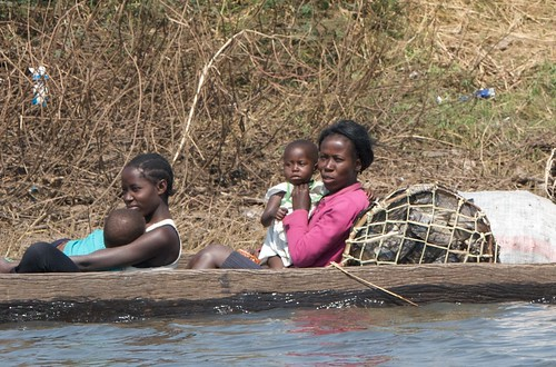 A family heading for Mongu Harbour, Zambia. Photo by Patrick Dugan, 2012.
