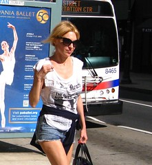 IMG_4814 (ViewFromTheStreet) Tags: street ballet woman bus classic philadelphia girl smile sunglasses female shopping photography newspaper calle amazing unitedstates pennsylvania candid walnut streetphotography tshirt jeans blonde denim shorts septa blick allrightsreserved walnutstreet viewfromthestreet stphotographia vftsviewfromthestreet blickcalle copyright2013 walnutstreetshopping blickcallevfts ©copyright2013blickcalle ©blickcallevfts