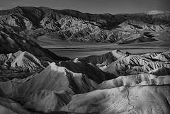 ZABRISKIE POINT, SUNRISE (tombabich24) Tags: blackandwhite landscape infrared deathvalley nationalparks
