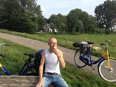 Tienhoven - Tijs eating an apple (TijsB) Tags: camping lake nature utrecht rowing fkk loosdrechtseplassen gaycouple naturists devierelementen tijsjoan naturistenvereniging