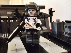 EU Infantry (Rogue_Predator) Tags: white trooper brick infantry soldier hope skull gun shoot lego mask you military like eu it special weapon leader squad custom operation gi forces purge aa12