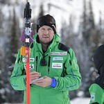 Johnny Crichton - BC Team coaches on the job at Sun Peaks PHOTO CREDIT: Gordie Bowles