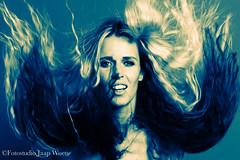 Mayke Laan (JaapWoets) Tags: portrait model glamour blond portret beweging haar langhaar bueandyellow maykelaan