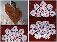 emaklbburinn/ handavinna (helga 105) Tags: red handmade cloth rautt dkur handavinna helga105 svuntaaprion heklaur crochetediceland