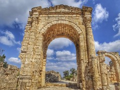 Roman Arch at Al-Bass Archeological Site (Ty