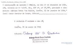 Certidão Nascimento Adriana Verso 2001