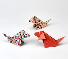 Origami création - Didier Boursin - Chien