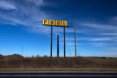 Food (Kunst Images) Tags: road food abandoned sign yellow illinois