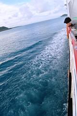 imagine the blue (hikari azzahirah) Tags: blue sea alone laut strait kapal