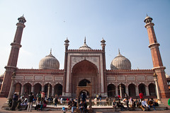 Jama Mosque (king.arm) Tags: travel red india holiday building interesting fort unique delhi muslim mosque architectural unesco historical incredible unescoworldheritage redfort jama jamamasjid moghul lalqila