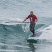 Rusty Birchell on SUP - 2014 Big, Bad and Ugly Surf and Turf Invitational - 15 Feb. 2014, Morro Bay. CA