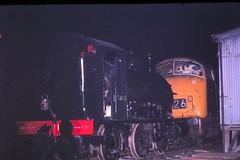 69 086 010569 Totnes D809 and 1363 (The KDH archive) Tags: 1969 railway totnes 1363 class42 d809