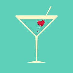 Cocktail glass garnished with a bleeding heart (Victor Tondee) Tags: red pierced love glass silhouette illustration design pain hurt blood heart emotion drink political beverage creative aquamarine martini drop valentine romance minimal cocktail desire relationship amour alcohol passion romantic bleedingheart lust lover outline bleeding conceptual vector heartbreak dripping element rejection symbolic feelings garnish sentimental breakup lovesick jilted lovelorn lliberal backgropund