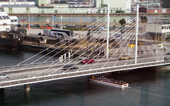 P1040404-X (PaddingtonX) Tags: bridge water harbor boat canal sightseeing tourist malmö orkanen universitetsbron