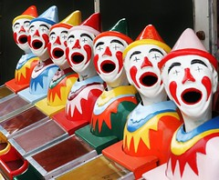 Usual Scary Clown Heads - Harvey Show 2014